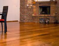 Desain interior lantai kayu parket