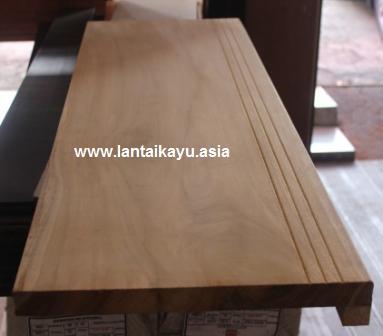papan tangga kayu jati tebal 2,5cm