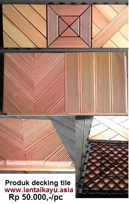 jual lantai kayu taman