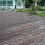 Pemasangan Decking kayu di Istana Republik indonesia