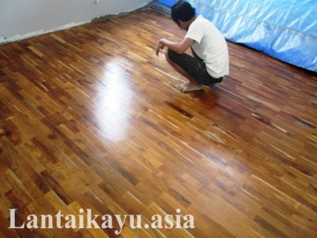 lantai kayu sistem random