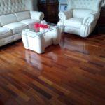 contoh terpasang lantai kayu Merbau