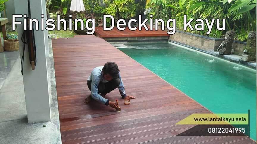 cara finishing lantai kayu outdoor