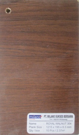 Bentuk lempengan lantai kayu Jati
