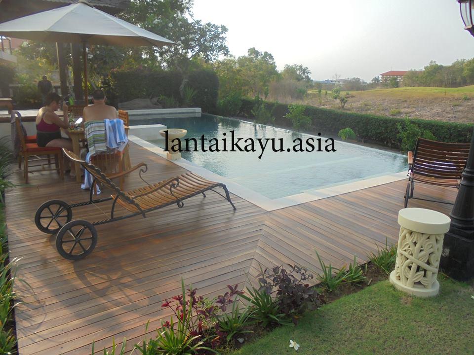 Penjualan lantai kayu lombok