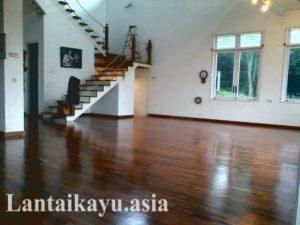 lantai kayu selesai