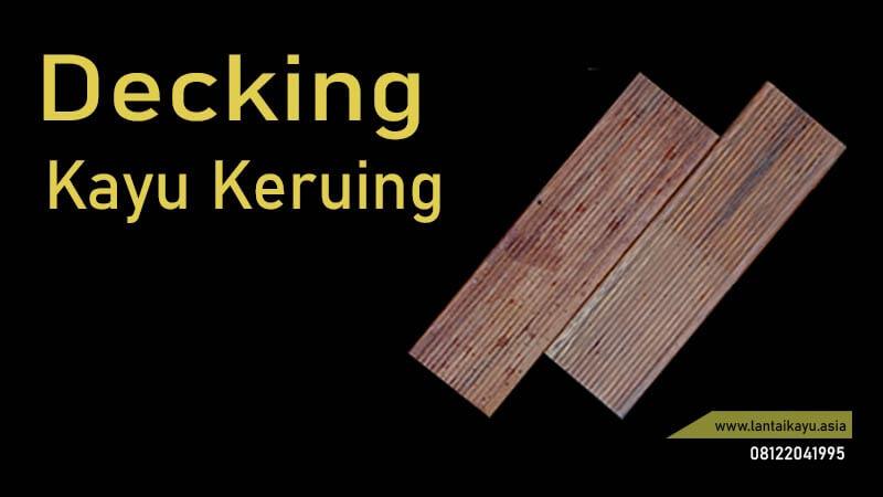 lantai kayu Outdoor dari keruing