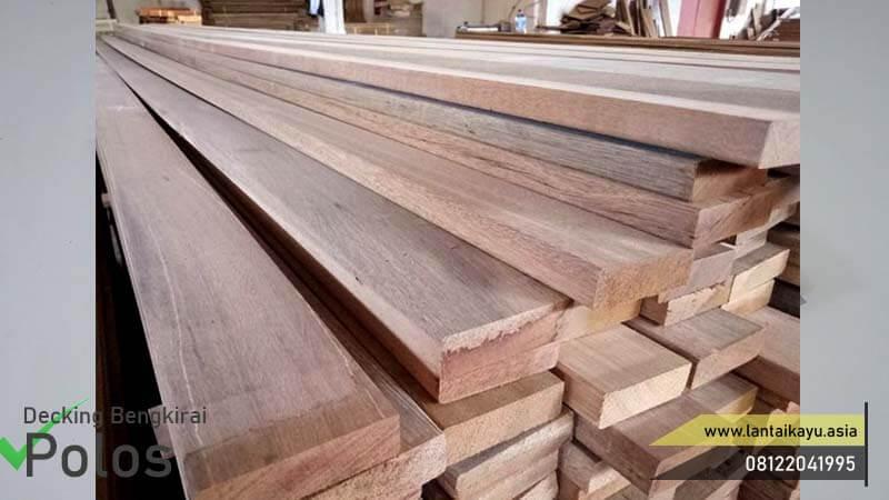 Harga lantai kayu Outdoor bengkirai Polos
