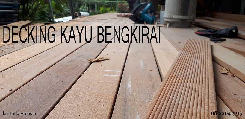 Decking kayu Bengkirai lantai outdoor