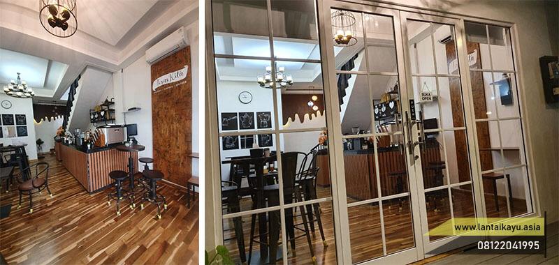 Inspirasi pemasangan Mini Flooring kayu Jati Grade B