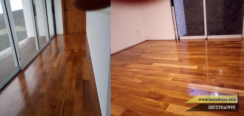 Insprirasi lantai kayu jati terpasang jenis Flooring