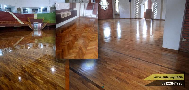 Inspirasi pemasangan parket kayu Jati Grade A