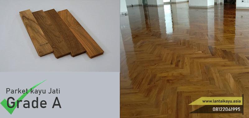 parket kayu jati Grade A 30 cm