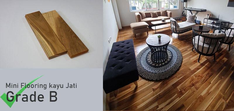 mini Flooring kayu Jati Grade B