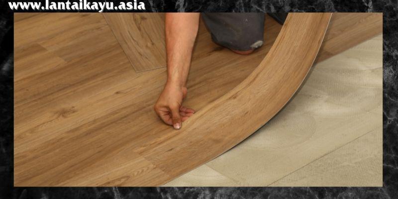 material lantai terbaik untuk kantor - lantai vinyl
