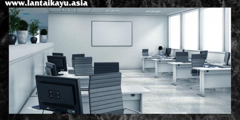 material lantai terbaik untuk kantor - lantai keramik