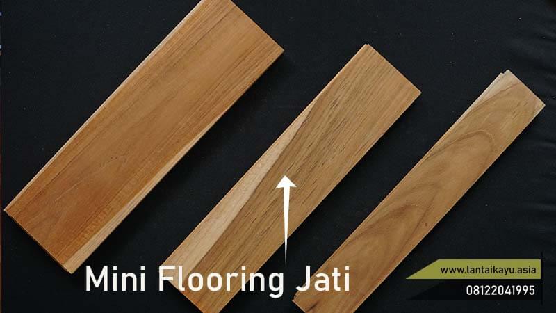 harga lantai kayu jati mini