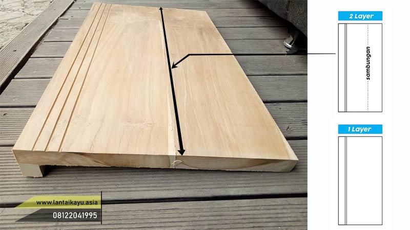 papan kayu tangga dua layer