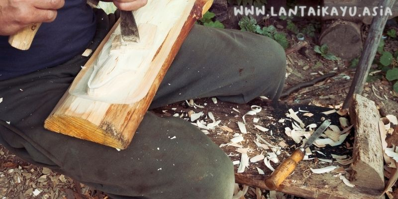 kerajinan kayu trembesi