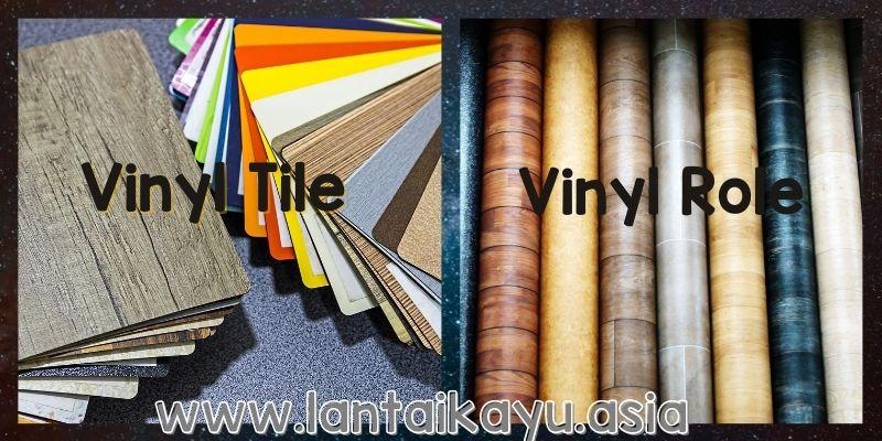 vinyl tile & vinyl role