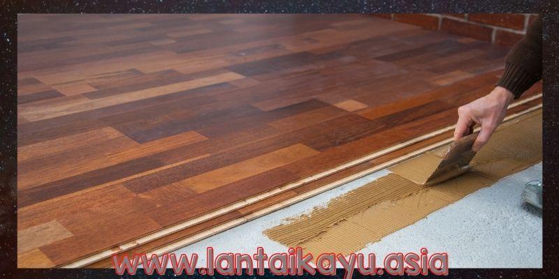 Cara Memasang Lantai kayu Parket Solid