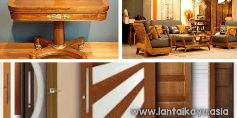 Sebagai bahan bangunan dan furnitur interior rumah