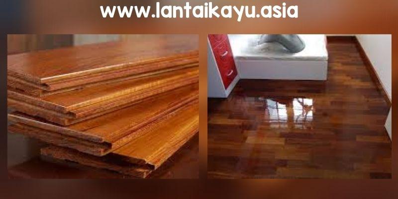 Lantai Kayu Solid (Coating awal)
