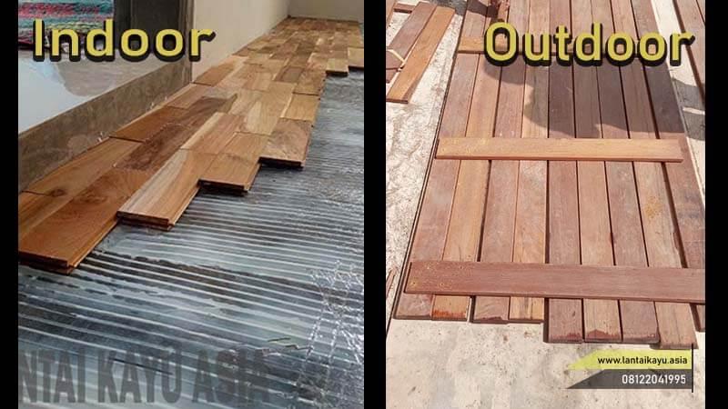 jenis lantai kayu indoor outdoor