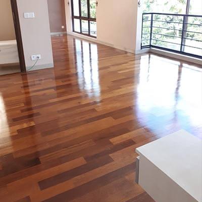 lantai kayu merbau interior