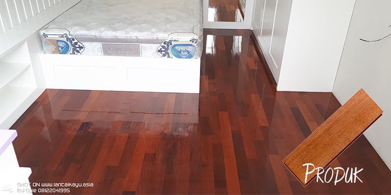 Jenis lantai kayu Merbau untuk kamar tidur