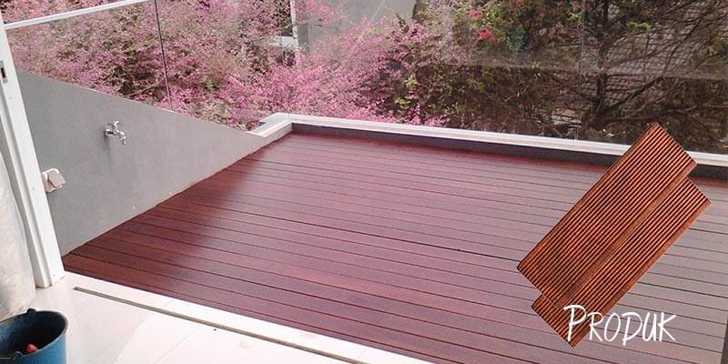 Jenis lantai kayu Merbau untuk outdoor