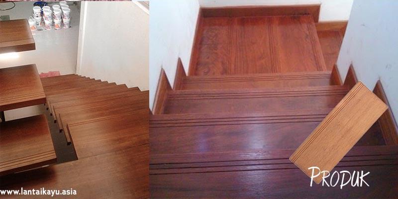 Papan kayu tangga merbau