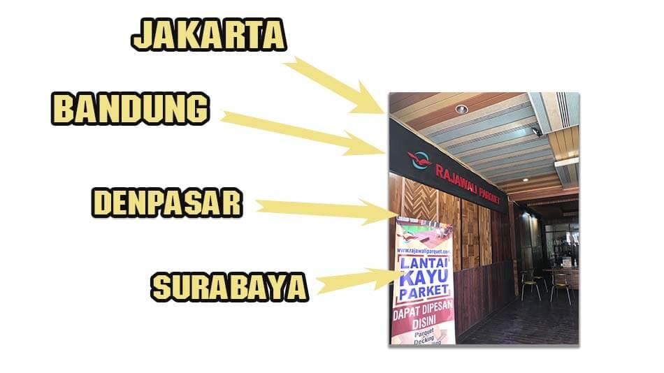 showroom lantai kayu asia Bandung Jakarta Surabaya Denpasar