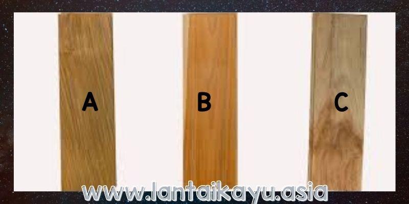 spesifikasi lantai kayu jati berdasarkan grade