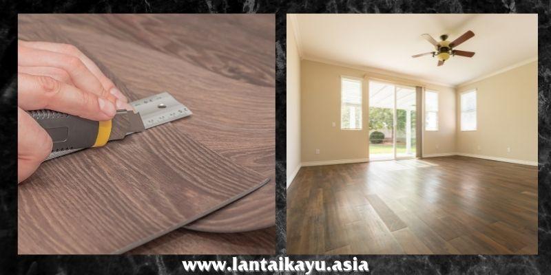 jenis lantai kayu tempel terbaik - lantai vinyl