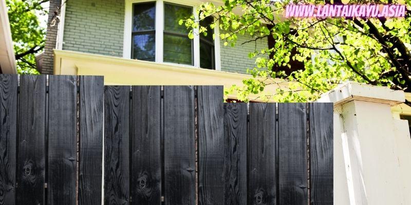 10 Model Pagar Kayu Minimalis Untuk Rumah - pagar kayu hitam